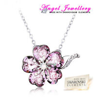 New Silver Plated Necklace With Swarovski Crystal Elements Pendant