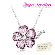 Silver Plated Necklace With Swarovski Crystal Elements Pendant