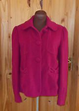 GREAT PLAINS pink cerise raspberry WOOL CASHMERE winter coat jacket top XS 8 36