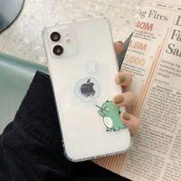 Cute Creative Dinosaur Cartoon Phone Case Clear Soft Cover For iPhone 12 11 X XS