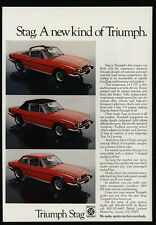 1973 Red TRIUMPH STAG 2+2 GT Convertible Sports Car VINTAGE AD