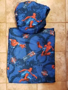 Marvel Twin Size Flat Sheet and Fitted Sheet Spiderman
