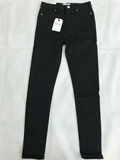 MISS SELFRIDGE Lizzie High Waist Super Skinny Black Jeans SIZE W28 L32