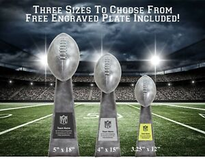 "Fantasy Football Trophy Lombardi Style Super Bowl Trophy 3 Sizes (12"",15"",18"")"