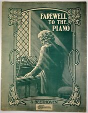 Farewell To The Piano By Beethoven Sheet Music Cover art of Beethoven