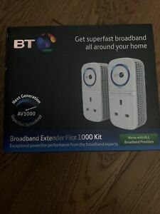 BT Broadband Extender Flex 1000 Kit Wired AV1000