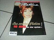 PLATINE 090 (4/2002) MYLENE FARMER DENEUVE VARTAN HALLYDAY BECAUD BRUEL LAVOINE