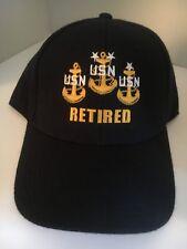 """U S NAVY CAP  """"USN  """"  RETIRED"""