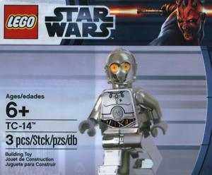Lego TC-14 Protocol Droid Chrome Silver Polybag Star Wars Minifigure New Sealed