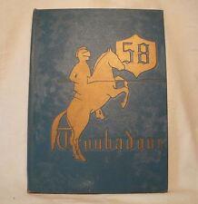 1958 LENNOX HIGH SCHOOL YEARBOOK LENNOX CA
