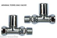 "Black Matt Corner Towel Rail Radiator Rad Valves Angled Pair 15mm x 1//2/"" CMB"