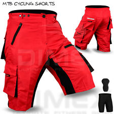 MTB Cycling Short off Road Cycle Liner Shorts Coolmax Padded Red Size M L XL 2xl