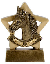 Horse Equestrian Show Jumping Pony Mini Star Trophy 8cm Engraving A1109 GMS