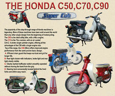 HONDA C50, C70, C90 MOTO Tappetino Mouse Limited Edition, Top Design 2014
