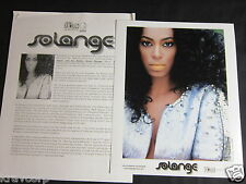 SOLANGE 'SOLANGEL…' 2008 PRESS KIT--PHOTO