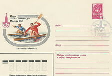 Russia, Soviet Union envelope Olympic Moscow 80 canoeing kayak