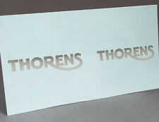 SILVER THORENS LOGO  for PORTABLE GRAMOPHONE PHONOGRAPH WATER SLIDE DECAL