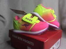 Kangaroos Baby Infant Shoes Girls Hot Pink, Yellow And Purple Size 5 New