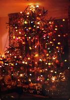 Vintage Photo Slide 1969 Christmas Tree Light Up December