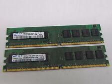 Samsung 2GB PC2-5300 (2x 1GB) DIMM 667 MHz DDR2 SDRAM Memory For Desktop