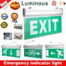 LED Exit Sign Emergency Light Indicator Lamp Safety Evacuation Fire Resistance