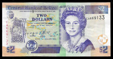 World Paper Money - Belize $2 Dollars 1999 Qe Ii @ Crisp Vf+