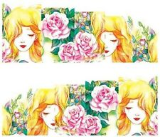 Nail Art Decals Transfers Stickers Pink Roses Character (A-137)