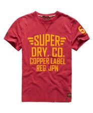 Camisetas de hombre rojos Superdry color principal rojo