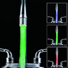 3 Farben LED Änderungs Licht Wasserhahn Dusche Wasserhahn Temperaturfühler