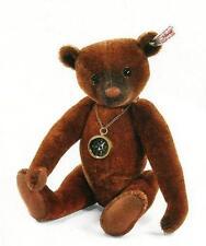 """STEIFF  """"NANDO TEDDY BEAR"""" EAN 035166 RUSSET MOHAIR BEAR WITH WORKING  COMPASS"""