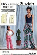SIMPLICITY SEWING PATTERN 8390 MISSES 6-24 PLUS SIZE, GIRLS 7-16 ONE-PIECE PANTS