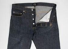 A.P.C. APC Mens New Standard Selvedge Denim Blue Jeans 29 30 x 33 $195 Zero Wash