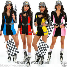 K91 Sexy Miss Indy Super Car Racer Racing Sport Driver Grid Girl Fancy Costume