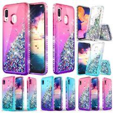 For Samsung Galaxy A10e A20 A30 Shiny Glitter Liquid Case Cover For Girls Women