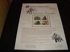 Prehistoric Animals #3077-3080 USPS Commemorative Stamp Panel #489 32 Cents