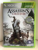 XBOX 360 Assassin's Creed III FREE SHIPPING (Xbox 360) COMPLETE