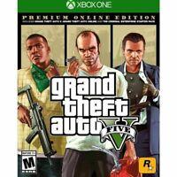 Grand Theft Auto 5 V GTA 5 Xbox One Premium Online Edition New!