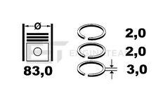 R1002700 Kolbenringsatz HYUNDAI i30, Santa Fe KIA Sportage D4EA