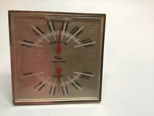 Vintage Taylor Humidiguide Tabletop Desk Thermometer Humidity Guide Gold A5