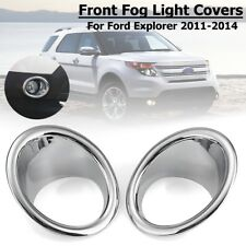 Pair Front Bumper Fog Light Cover Trim ABS For Ford Explorer 2011 2012 2013 2014
