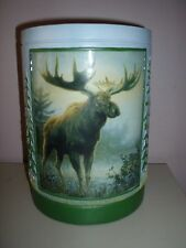 Moose resin  Bathroom OR ANY ROOM Wastepaper  Basket  CAN  Home Decor  NEW