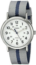 Timex Men's Weekender Quartz Silver Tone Brass Reversible Nylon Watch TW2P72300