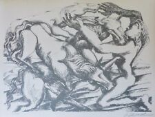 "OSSIP ZADKINE "" The Mares of Diomedes "" Hand signed LITHOGRAPH Russian/French"