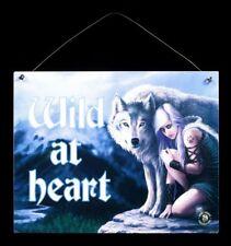Protector Plaque métallique avec loup - Wild at Coeur - Anne Stokes fantasie