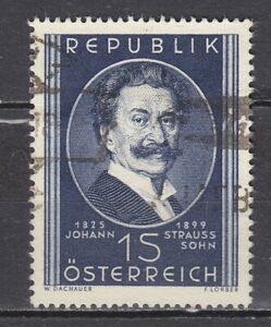 AUSTRIA used 1949 SC# Nr 560  Johann Strauss - The Younger - Composer