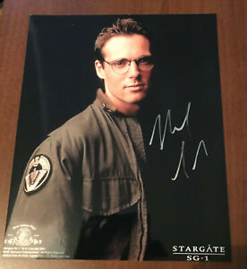 Stargate SG-1 Dr Daniel Jackson Original Signed A4 photo Michael Shanks