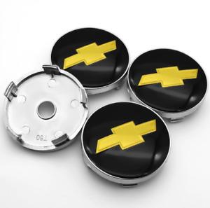 4pcs 60mm for Chevrolet Black Wheel Center Caps Rim Caps Hub Caps Emblems New