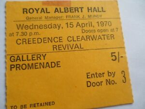 CREDENCE CLEARWATER REVIVAL__1970__Original CONCERT TICKET STUB__CCR_London__EX+