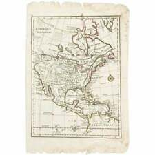 Mid 18th C. French Map of N. America, George Louis Le Rouge, Paris (1748)