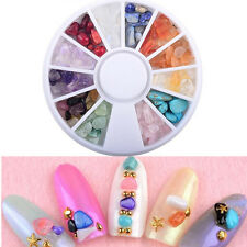 Wheel Irregular Natural Stone Crystal 3D Tips Nail Art Decorations Jewelry Tools